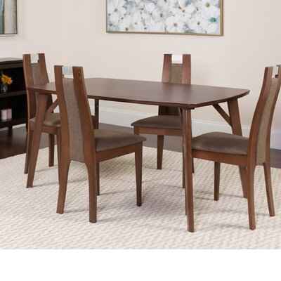 Hufford 5 Piece Dining Set Color: Walnut