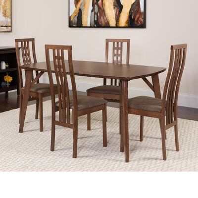 Hufnagel 5 Piece Dining Set Color: Walnut