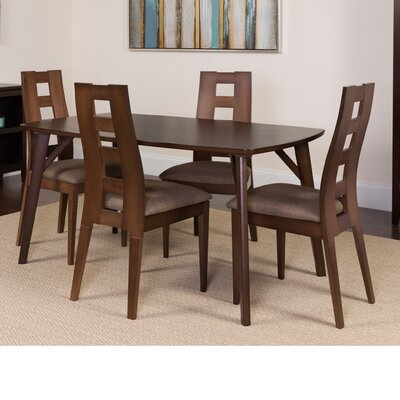 Hugley 5 Piece Dining Set Color: Espresso