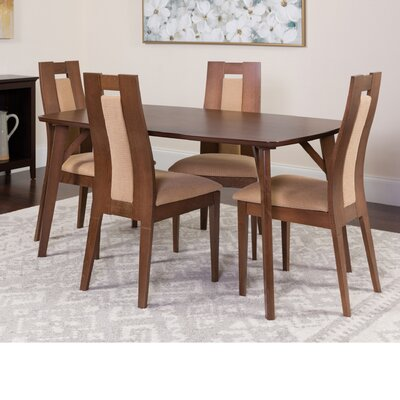 Hugo 5 Piece Dining Set Color: Walnut
