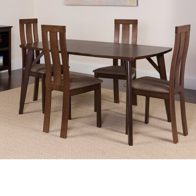 Huguley 5 Piece Dining Set Color: Espresso