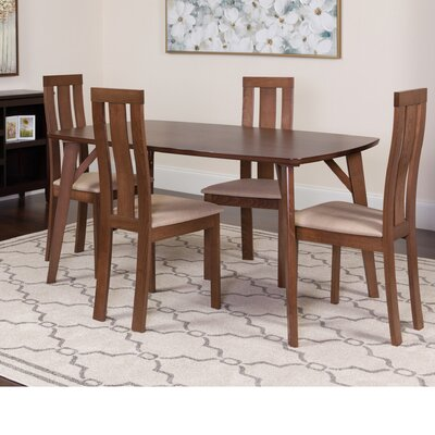 Huguley 5 Piece Dining Set Color: Walnut