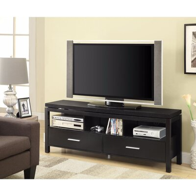 Posselli Magnificent 60 TV Stand with Drawers Color: Black
