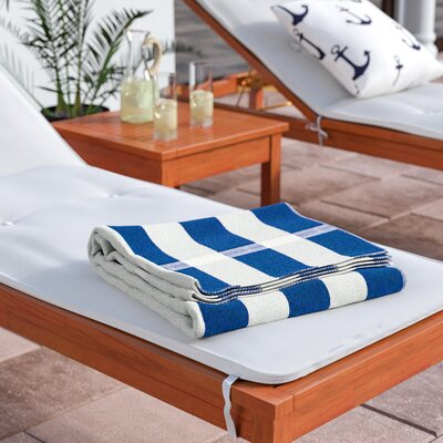 Stripe Beach Towel Color: Blue / White