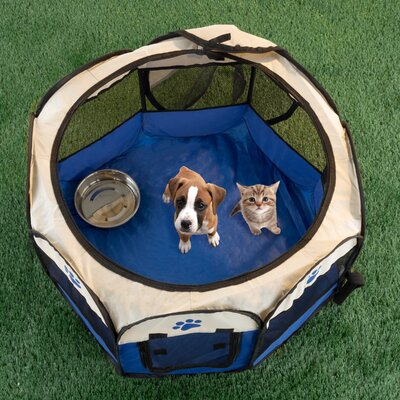 Pop-up Pet Pen Size: 17 H x 26.5 W x 26.5 D