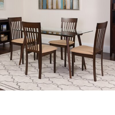 Hunsicker 5 Piece Dining Set Color: Espresso