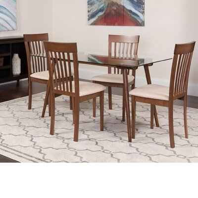 Hunsicker 5 Piece Dining Set Color: Walnut