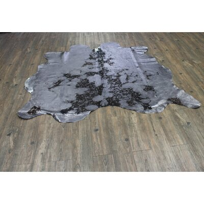 One-of-a-Kind Papadopoulos Hand-Woven Cowhide Gray Indoor Area Rug