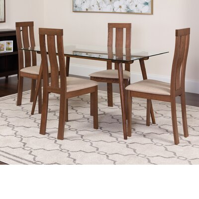 Hunsberger 5 Piece Dining Set Color: Walnut