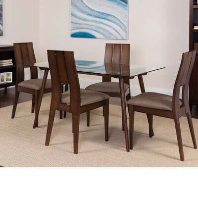 Hunsaker 5 Piece Dining Set Color: Espresso
