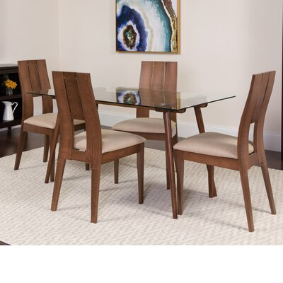 Hunsaker 5 Piece Dining Set Color: Walnut