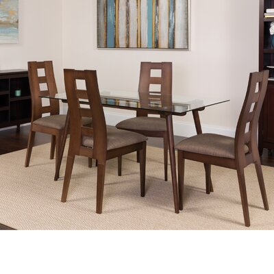 Hunley 5 Piece Dining Set Color: Espresso