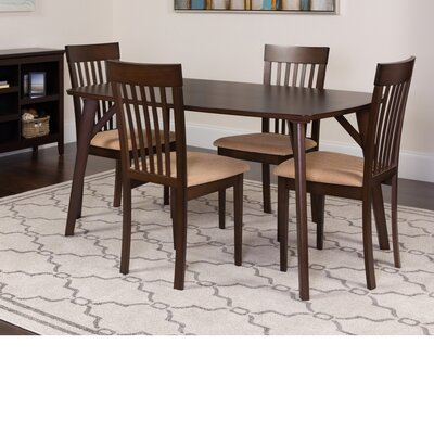 Huitt 5 Piece Dining Set Color: Espresso