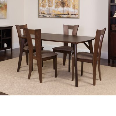 Huizenga 5 Piece Dining Set Color: Espresso