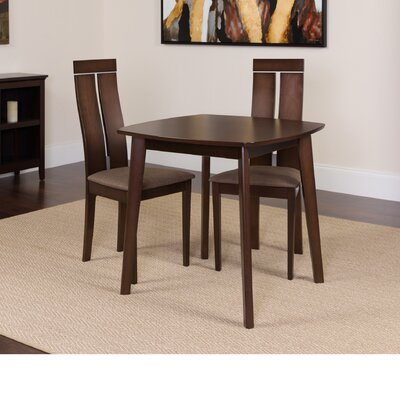 Hukill 3 Piece Dining Set Color: Espresso
