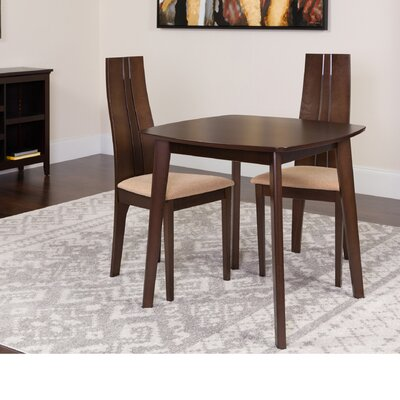 Hulbert 3 Piece Dining Set Color: Espresso