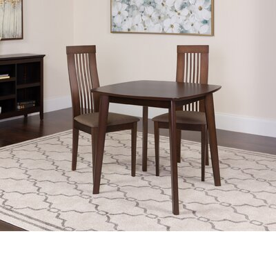 Hulett 3 Piece Dining Set Color: Espresso