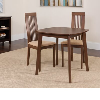 Hulett 3 Piece Dining Set Color: Walnut