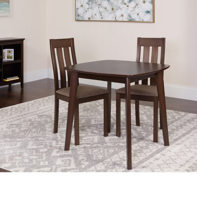 Huling 3 Piece Dining Set Color: Espresso