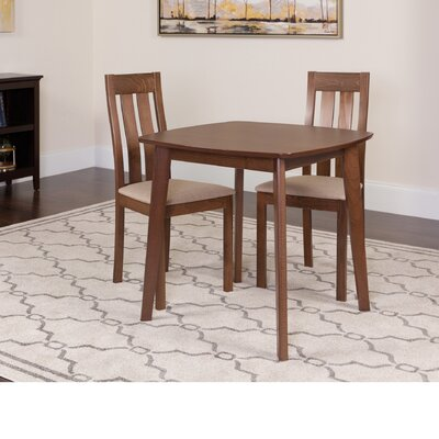 Huling 3 Piece Dining Set Color: Walnut
