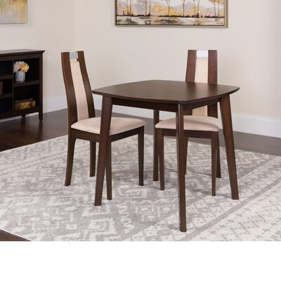 Hulme 3 Piece Dining Set Color: Espresso