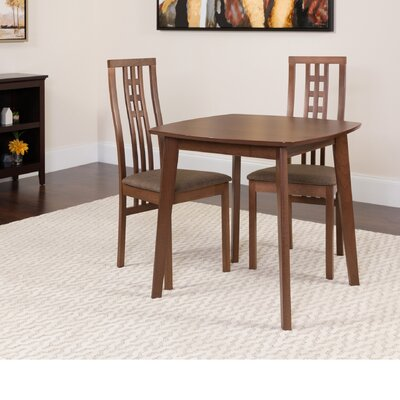 Hulse 3 Piece Dining Set Color: Walnut