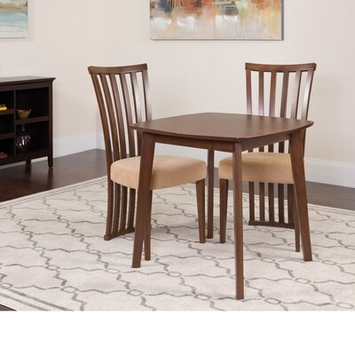 Hulsey 3 Piece Dining Set Color: Walnut