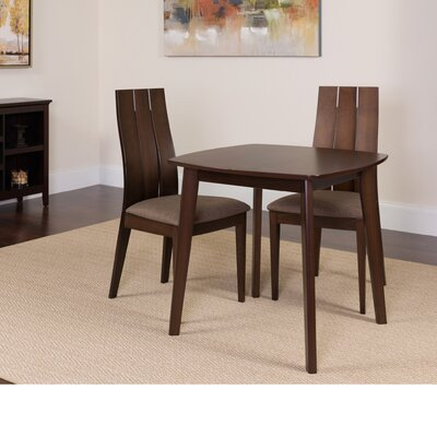 Hultgren 3 Piece Dining Set Color: Espresso