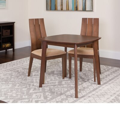 Hultgren 3 Piece Dining Set Color: Walnut