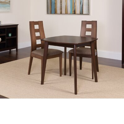 Hults 3 Piece Dining Set Color: Espresso