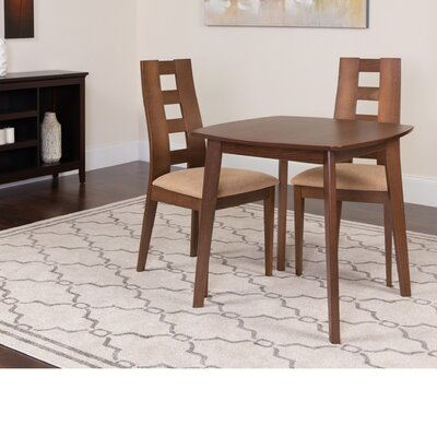 Hults 3 Piece Dining Set Color: Walnut