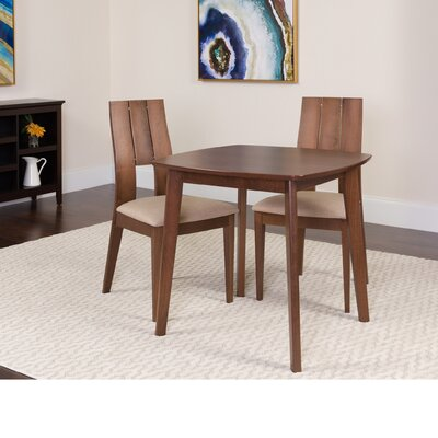 Dreer 3 Piece Dining Set Color: Walnut