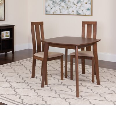Humberto 3 Piece Dining Set Color: Walnut