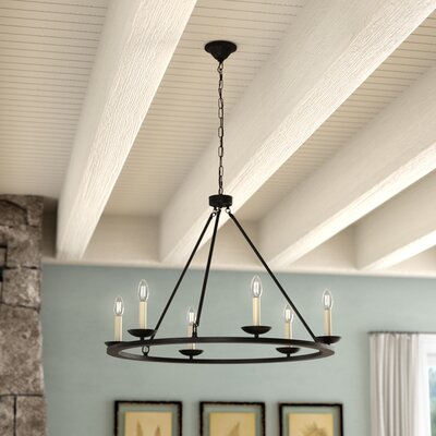 Stony Creek 6-Light Candle-Style Chandelier Finish: Black