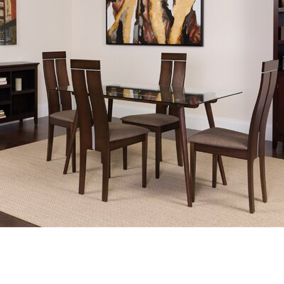 Humiston 5 Piece Dining Set Color: Espresso