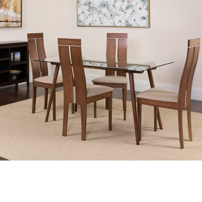 Humiston 5 Piece Dining Set Color: Walnut