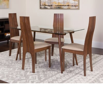 Hummel 5 Piece Dining Set Color: Walnut