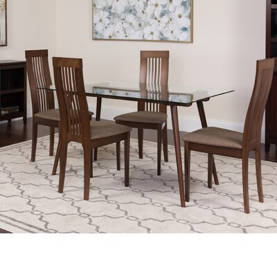 Hummer 5 Piece Dining Set Color: Espresso