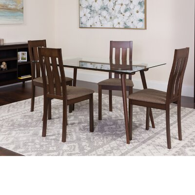 Humphery 5 Piece Dining Set Color: Espresso