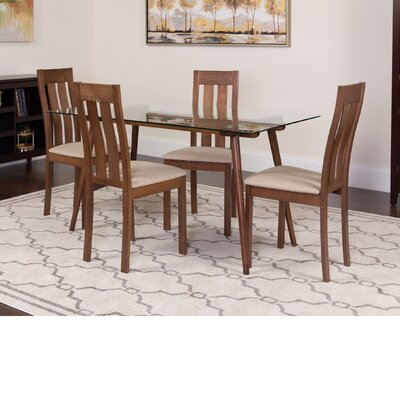 Humphery 5 Piece Dining Set Color: Walnut