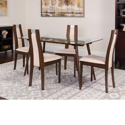 Hundley 5 Piece Dining Set Color: Espresso