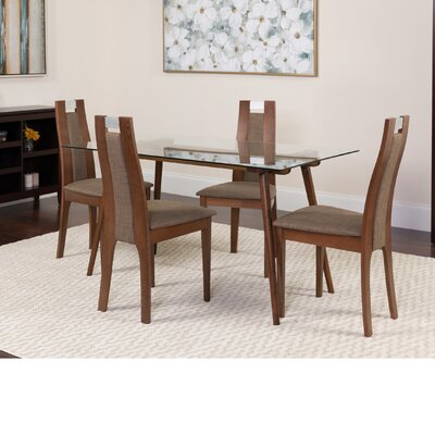 Hundley 5 Piece Dining Set Color: Walnut