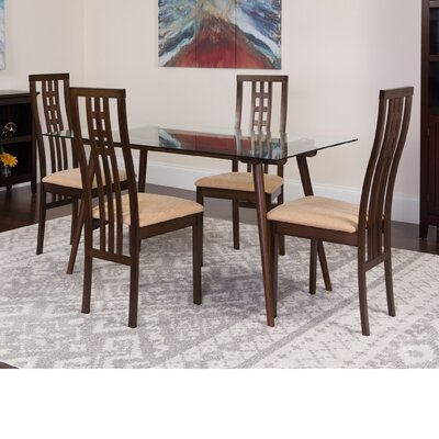 Hundt 5 Piece Dining Set Color: Espresso
