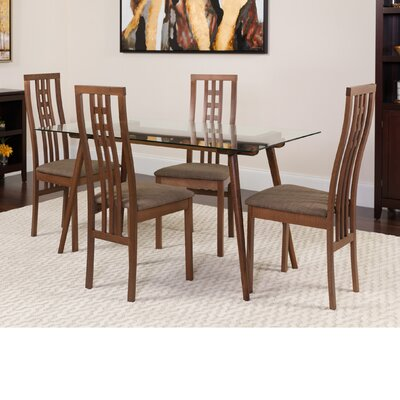 Hundt 5 Piece Dining Set Color: Walnut