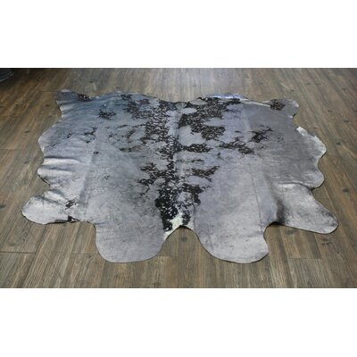 One-of-a-Kind Paolucci Hand-Woven Cowhide Gray Area Rug
