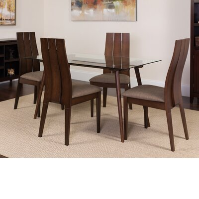 Hungate 5 Piece Dining Set Color: Espresso