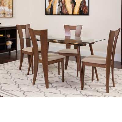 Hylan 5 Piece Dining Set Color: Walnut