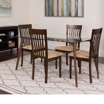 Hyden 5 Piece Dining Set Color: Espresso