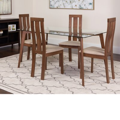 Hwang 5 Piece Dining Set Color: Walnut