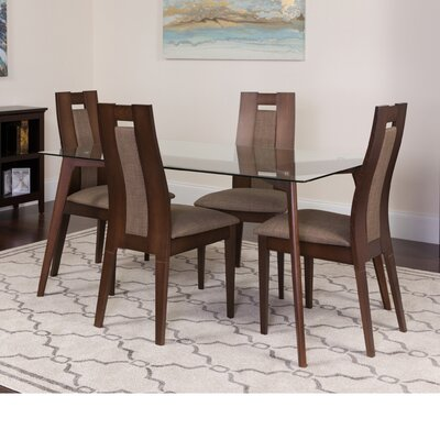 Hutton 5 Piece Dining Set Color: Espresso